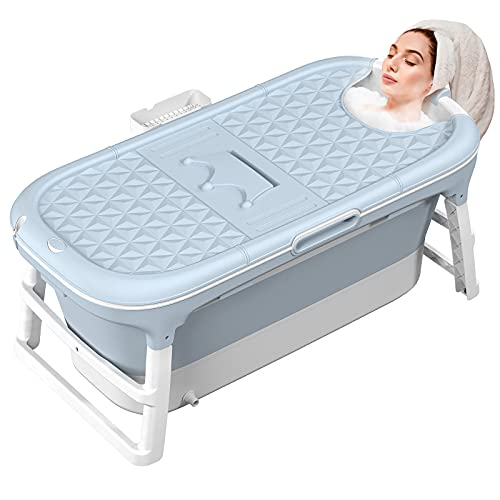 MCGMITT Faltbare Badewanne Erwachsene Mobile Badewanne Große tragbare Klappbadewanne zum Aufstellen Rutschfest für Familie Kinder Dusche Badezimmer SPA