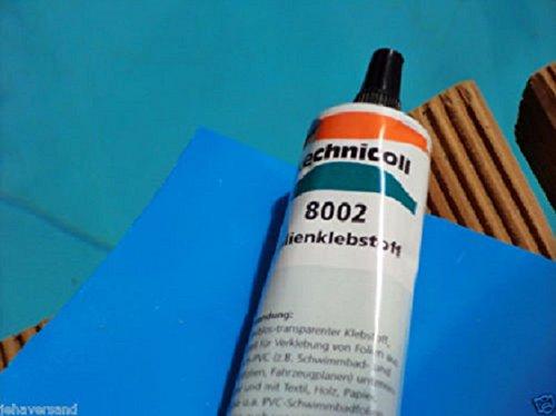 Poolflicken 2 St. 15 x 30 cm + 38 Gramm Technicoll , Folienflicken, Schwimmbadflicken inkl. Kleber Pool Reparaturset