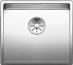 BLANCO Claron 450-IF, spoelbak zonder batterijbak, keukenaanrecht, voor normale en vlakke inbouw, InFino-uitloop, roestvri...