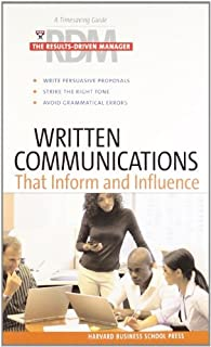 Written Communications that Inform and Influence: The Results-Driven Manager Series (Harvard Results Driven Manager) by Ha...