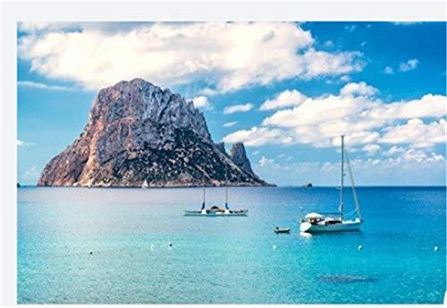 N/W Puzzle Jigsaw Rompecabezas De 1000 Piezas - Vista Pintoresca De La Misteriosa Isla De Es Vedra. Ibiza Islas Baleares. España - para Niños Adultos