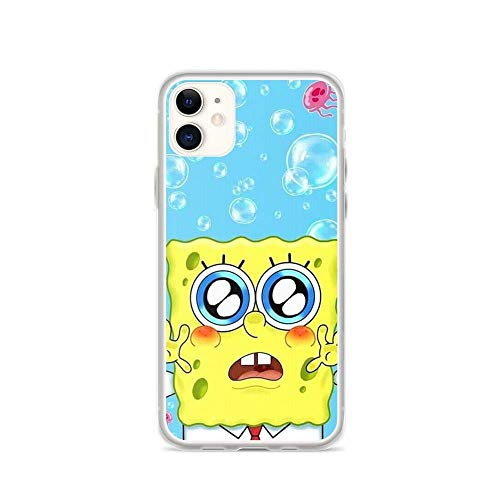 Compatible with iPhone 11 Case Cute Spongebob Squarepants Sunglasses Pure Clear Phone Cases Cover (12 Pro Max)