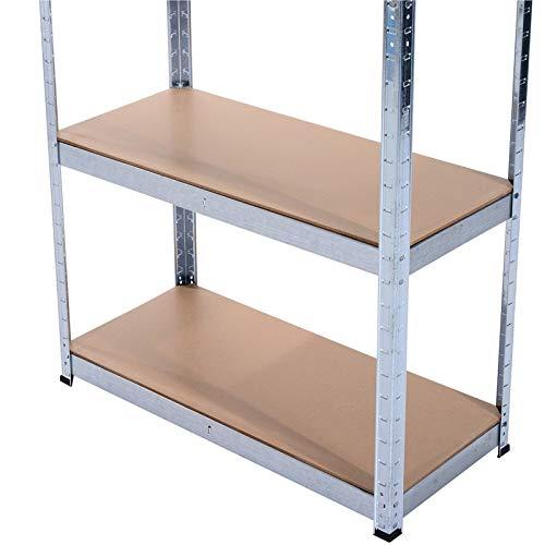 Grafner® Schwerlastregal 5 Ebenen Werkstattregal 1,72m Kellerregal Steckregal bis 375 kg - 4