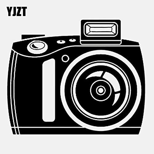 JYIP 14CM * 11.6CM Flash Film Digitalkamera Silhouette Vinyl Schwarz/Silber Autoaufkleber C22-0874 Silber