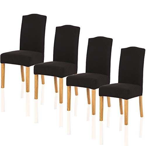 TIANSHU Fundas para sillas Pack de 4,Poliéster Elástica Fundas sillas Duradera Modern Bouquet de l