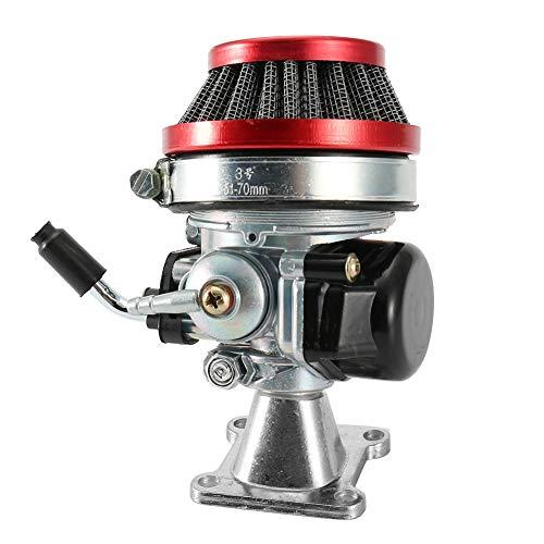 2 Takt Motor Vergaser, Luftfilter, Gaszug für Pocketbike ATV 49cc ABS + Aluminiumlegierung