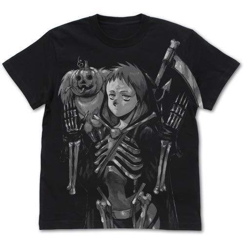 ドロヘドロ(原作版) 恵比寿&キクラゲ オールプリントTシャツ/BLACK−XL