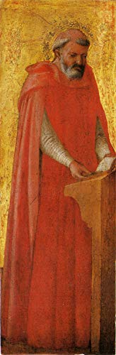 "Masaccio Saint Gerolamo from The Pisa Altarpiece 1426 Gemaldegalerie Staatliche Museen zu Berlin 24"" x 8"" Fine Art Giclee Canvas Print (Unframed) Reproduction"