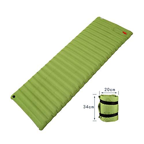 Slaapzak Opblaasbaar Kussen Outdoor Tent Slaapkussen Verdikking 10 cm Camping Mat Indoor Lunch Mat Zelfstandig Opblaasbaar Groen Plus Katoen Warm Gift