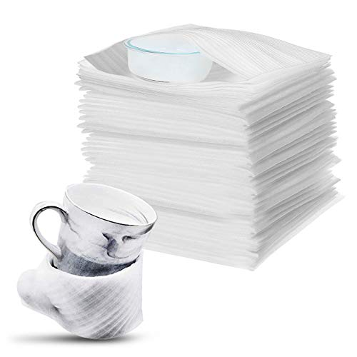 100PCS Demenagement Feuilles Papier bulle pour Cartons Déménagement Vaisselle, Plats, Assiettes, Verres Emballage