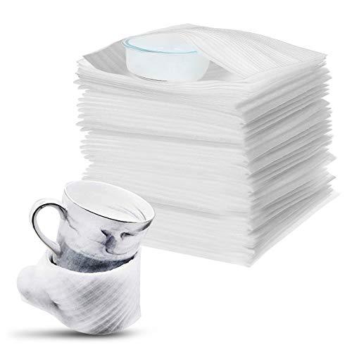 100Stk Schaumstoffverpackung Schaumfolie Verpackungsmaterial Verpackung Kissenschaumbeutel Luftpolsterfolie Schaum Beutel für Umzug Lagerung Umzugskartons