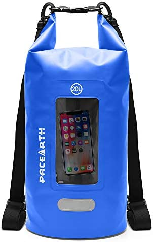 Aracky Dry Bag Backpack Blue 10L Double Layer Floating Dry Waterproof Bag Roll Top Lightweight product image