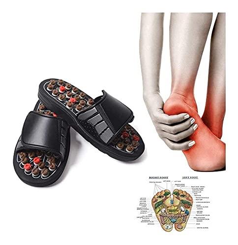 YTWD Massagepantoffeln, Massagefußbett und natürliche Therapie für stimulierte Druckpunkte fördern die Gesundheit - für Männer und Frauen 9.14 (Farbe: Braun, Größe: 38EU)