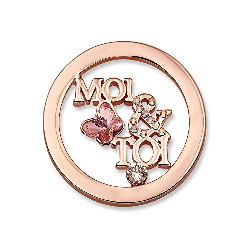 Mi Moneda Femme Acier Pendentif en forme de piece monnaie - SW-MOI-03-S