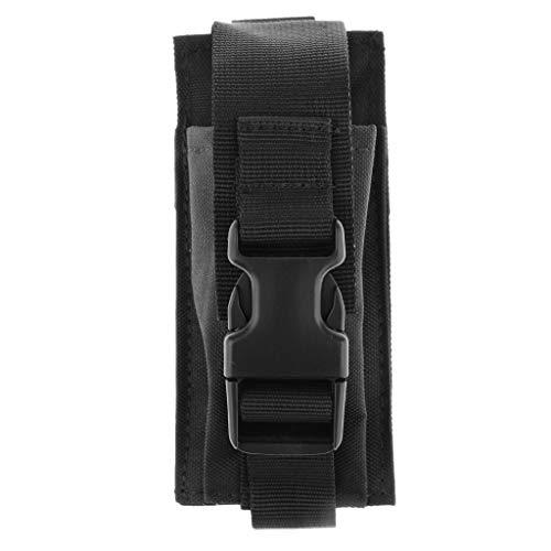 freneci Linterna de Al Aire Libre Riñonera Versatilidad Cintura de Lona Táctica - Negro, 14x6.5cm