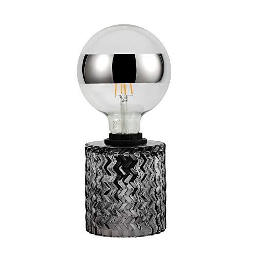 Pauleen 48083 Crystal Smoke Tischleuchte max20W E27 Retrolampe Vintage Rauchglas Tischlampe 230V Glas