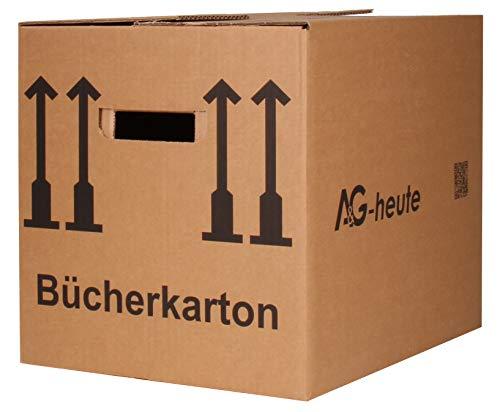A&G-heute 15 Stück Bücherkartons 400 x 330 x 340mm Archivkarton Ordner Umzugs Kartons Bücher Kiste