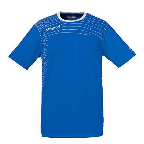 uhlsport Match Team MC De Mujer Kit Camiseta Y Shorts, Azur/Blanco, XXL