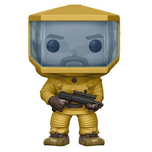 Funko Hopper [Biohazard Suit] (Hot Topic Exclusive): Stranger Things x POP! TV Vinyl Figure & 1 POP! Compatible PET Plastic Graphical Protector Bundle [#525 / 20985 - B]
