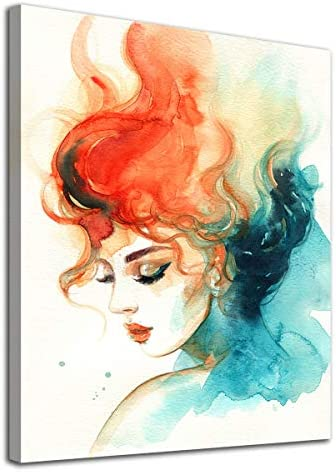 Fantastic Girl Wall Art Abstract Colorful Girl Canvas Pictures Watercolor Lady Abstract Modern product image