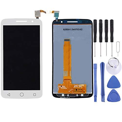 BEIJING LCDSCREEN/Pantalla LCD y Montaje Completo de digitalizador, para Alcatel One Touch Pop 2 Premium / 7044 (Color : Blanco)