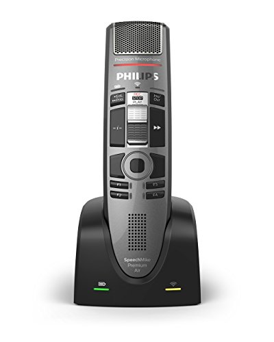 Philips SMP4010/00 SpeechMike Premium Air Wireless Dictation Microphone with Slide Switch Design