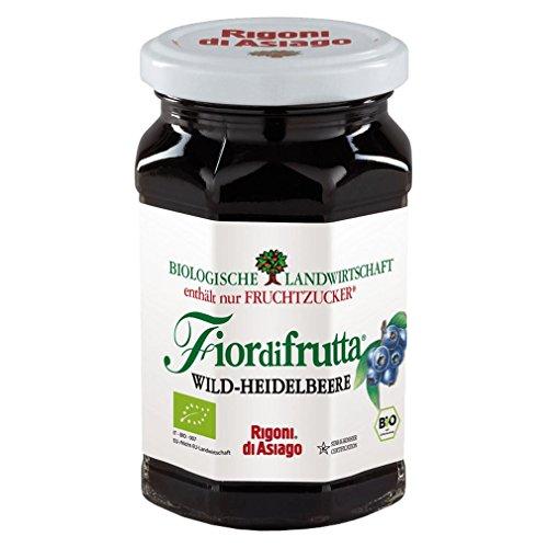6x Rigoni di Asiago Fiordifrutta Fruchtaufstrich Wild Heidelbeeren BIO 250g