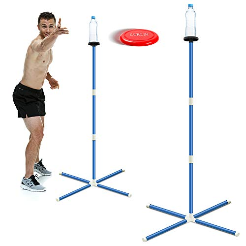 outdoor yard games LURLIN Outdoor Games for Family - Yard Games for Adults and Kids - New Popular Flying Disc Game - Fun for Kids Party Games or Lawn Games for Boys, Girls - Easy Assembly