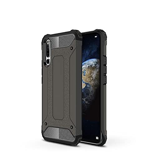 ZHIWEI Das tragbare Handy Tasche Schutzhülle für Huawei Honor Magic 2 Hülle, TPU + PC Stoßfänger Dual Layer Stoßdämpfe Hybridschutz Robustes Fall (Color : Bronze)