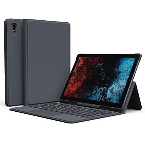 Funda con teclado VASTKING KingPad K10, funda fina con teclado de 80 teclas, para tablet con teclado y conector de 5 pines, plegable, gris (tableta no incluida)