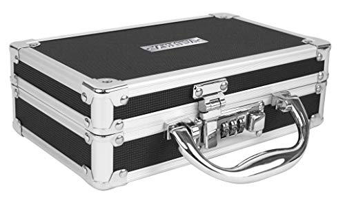 Vaultz Medicine Case with Combination Lock, 8.25 x 5 x 2.5 Inches, Black (VZ00361)