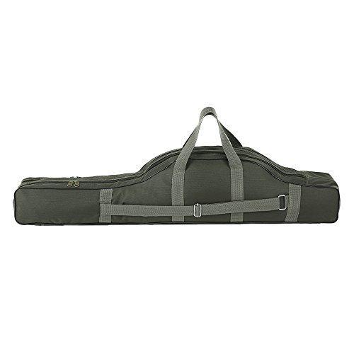 Festnight 130cm Angeltaschen, Angeltasche Tragbare Klapp Angelrute Reel Tasche Angelrute Gear Tackle Werkzeug Tragetasche Träger Reisetasche Aufbewahrungstasche Organizer(Army Green)