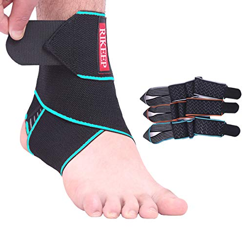 Ankle Support,Adjustable Ankle Brace Breathable Nylon Material Super Elastic and Comfortable,1 Size Fits all, Suitable for Sports(blue 1)