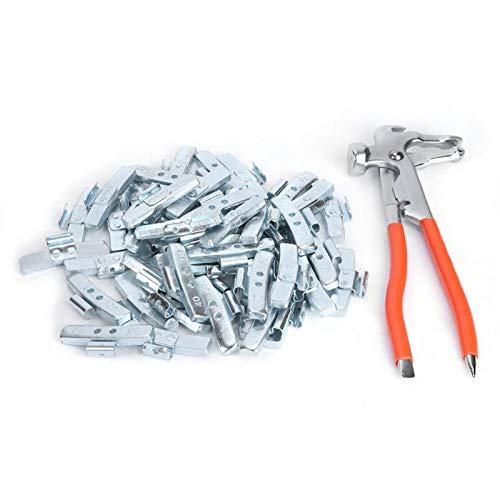 FECAMOS Balanceador de Llantas de Rueda, 50 Piezas 40 g / 1,4 oz de aleación de Aluminio Estilo P Clip de Plomo en Surtido de Peso de Rueda, Herramienta de reparación de Llantas para automóvil(#01)