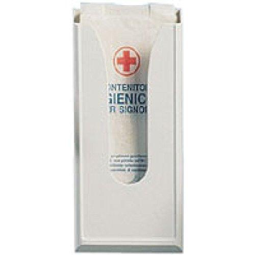 Hygienebeutelspender aus weißem Kunststoff für Papierbeutel
