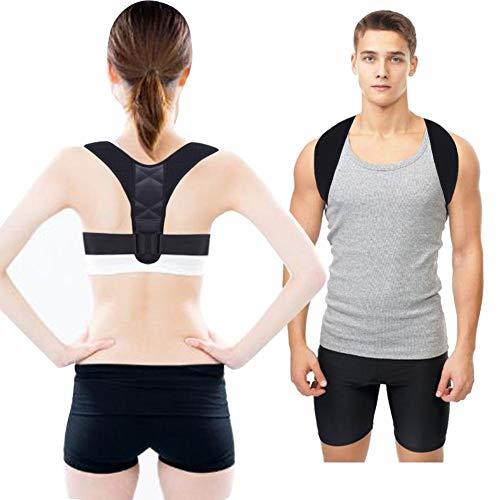 Corretor de postura para homens e mulheres, cinta de postura de clavícula superior ajustável e confortável para melhorar a postura e proporcionar alívio da dor