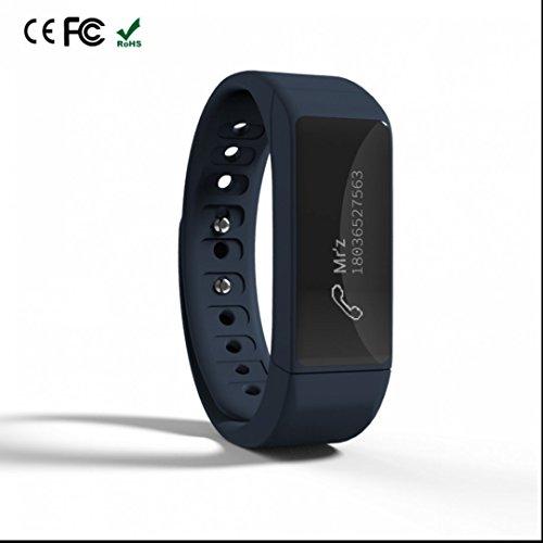 Bracelet Connectée Fitness Tracker d'Activité,Weather Remind,Compteur de Calories,Tracker Sommeil,d'Activité Fitness,Appareil photo à distance,Lumière LED à l'obscurité de l'iPhone iOS Android Samsung