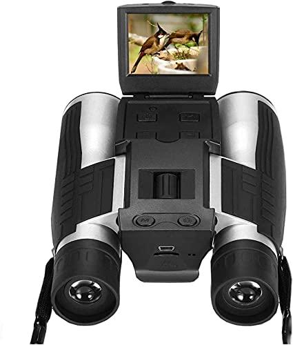 LXHJZ Pantalla LCD Cámara Digital 12x32 5MP Video Grabadora Fotos Cámara Digital Binoculares para observar Aves Juego fútbol