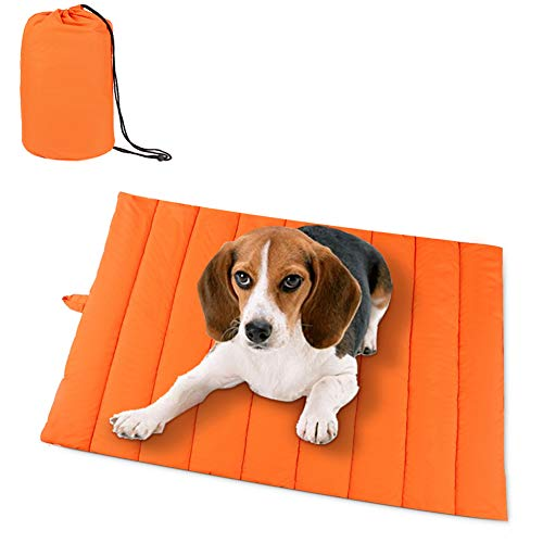 AMOFY Pet Mats, 43'X27', Exceptionally Hygienic, Non-Slip, Water Resistant, Comfortable and Portable, Machine Washable, Fit Indoor Outdoor Use for Dogs Cat Pet, Four Seasons Orange