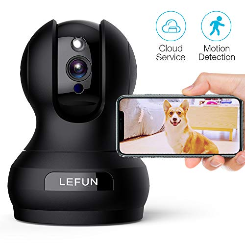 Pet Camera, Lefun 1080P Wireless Security Camera with Motion Detection Night Vision Two Way Audio Updated Cloud IP Surveillance Camera Supports 2.4G WiFi Remote View for Home Baby Dog Monitor