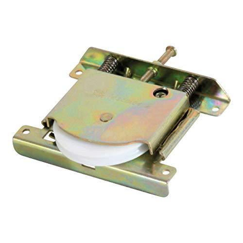 Galet de roulement de porte coulissante de placard - Charge par vantail : 100 kg - Version : Roulette avec rainure - Galet : Ø 60 - MECALDE