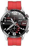 Reloj Inteligente Hombres Apoyo Llamada ECG PPG Medición Deportes Smartwatch Impermeable IP68 para Android IOS-D-B