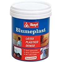 Rayt 157-09 Blumeplast M-20: Látex plástico denso, sellador de superficies de yeso, cemento, estuco, madera, e impermeabilizante para manualidades. Secado transparente, 1kg