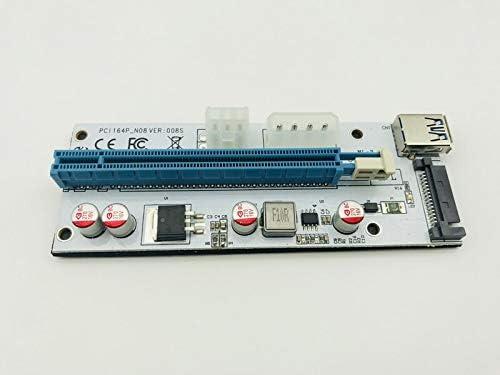 Occus Riser PCI-E 3.0 x8 Extension Cable to pci-e 8 8X PCIe Riser Card expresscard 1U 2U Servers Extender Cable 20cm 100cm Gen3 64Gpbs Cable Length: 35cm, Color: R88SL