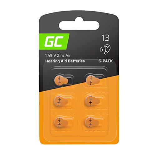 Green Cell Advanced Batterie Batteria 6 pz Acustiche Zinco Aria, Formato 13 P13 PR48 ZL2 Arancia, Value Pack da 6 Batterie, Zinc Zinc-Air, Per Apparecchi Acustici