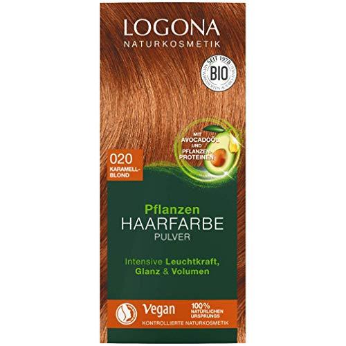 Logona Pflanzen-Haarfarbe-Pulver karamellblond (100 g)