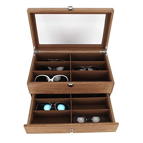 KAKAKE Caja De Gafas, Caja De Gafas, Una Decoración Resistente Al Desgaste con 12 Ranuras para Sus Productos