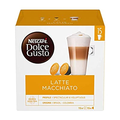NESCAFÉ Dolce Gusto Latte Macchiato Coffee Pods 30 Capsules (45 Servings, Pack of 3, Total 90 Capsules)