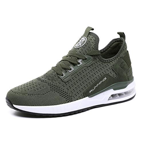 tqgold® Sportschuhe Herren Damen Laufschuhe Sneakers Turnschuhe Gym Fitness Leicht Schuhe(Grün,Groß 42)
