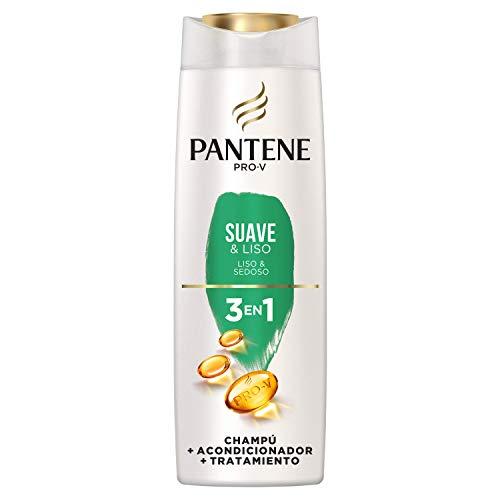 Pantene Pro-V Suave & Liso Champú, Acondicionador y Tratamiento 3 en1, Suavidad Increíble y Control del Encrespamiento, 300 ml